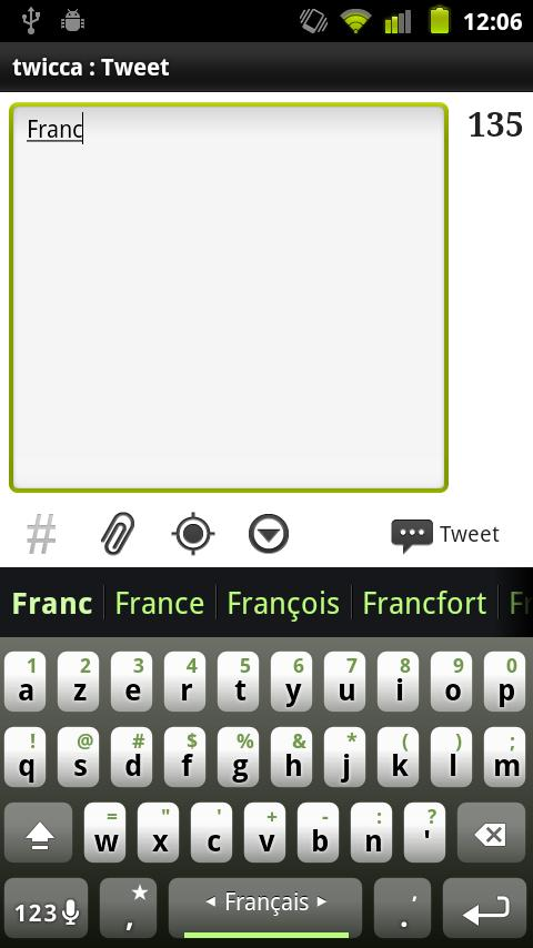 French Keyboard Plugin – Screenshot