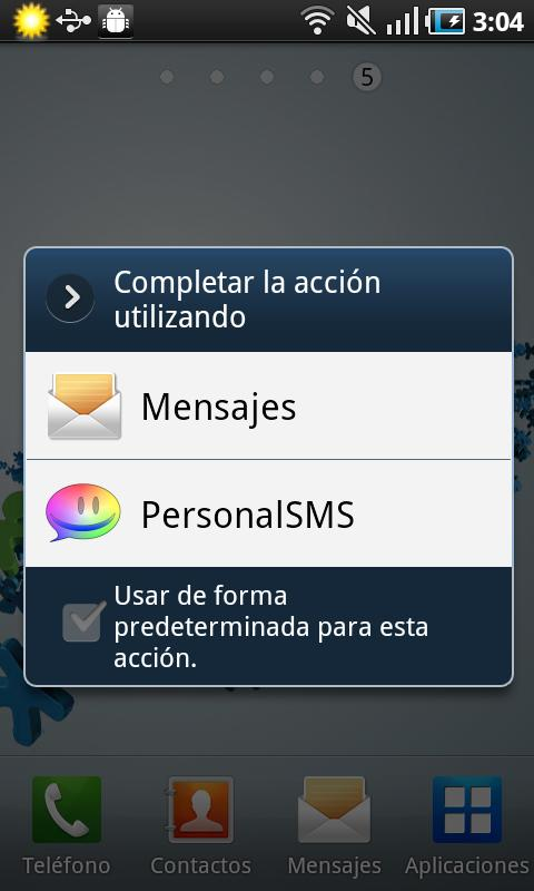 Personal SMS Argentina - screenshot