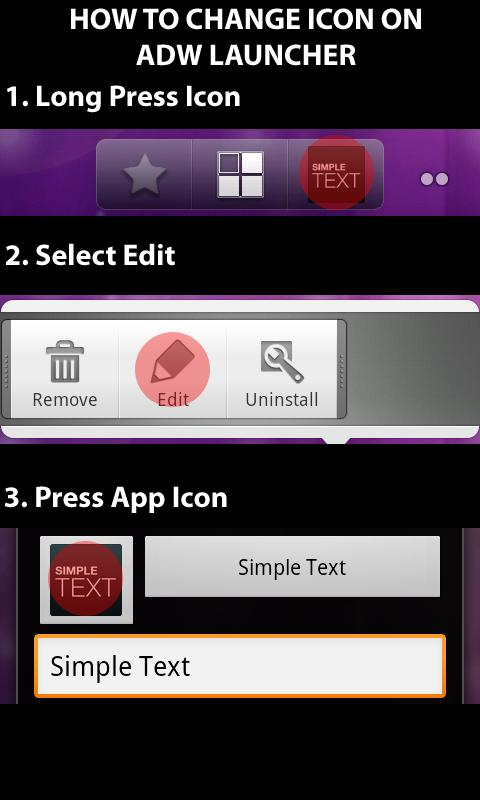 Simple Text-Text Icon Creator - screenshot