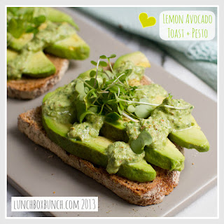 Favorite Lemon Avocado Toast + Nutty Basil Pesto