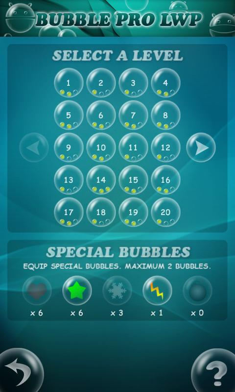 Bubble Droid Game - screenshot