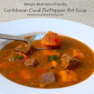 Caribbean Crock Pot Pepper Pot Soup.