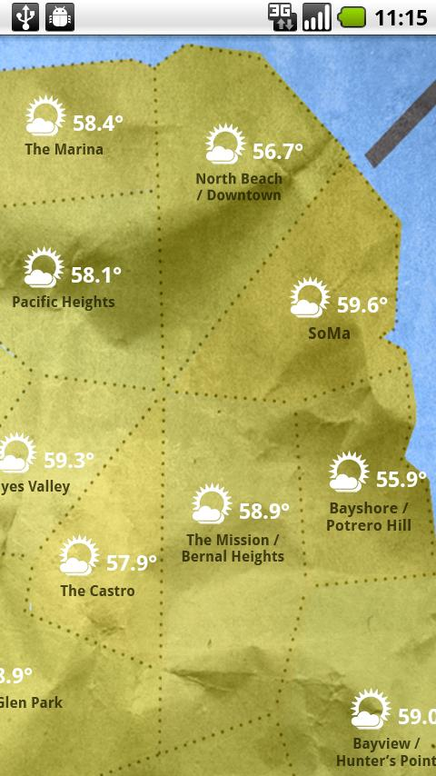 SF Weather - screenshot