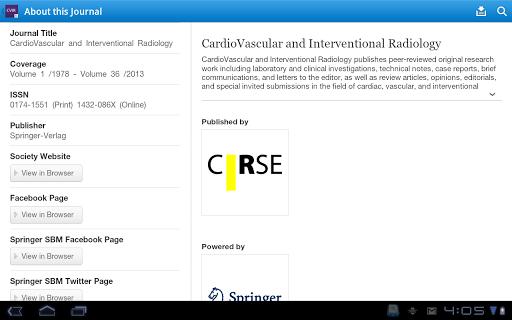免費醫療App|CVIR – Journal of the CIRSE|阿達玩APP