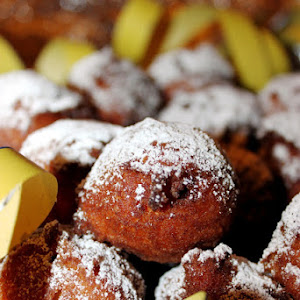 Ricotta Cheese Fritters with Chocolate Chips and Rum