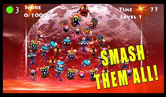 Screenshot of Monster Smasher Hit: Space War
