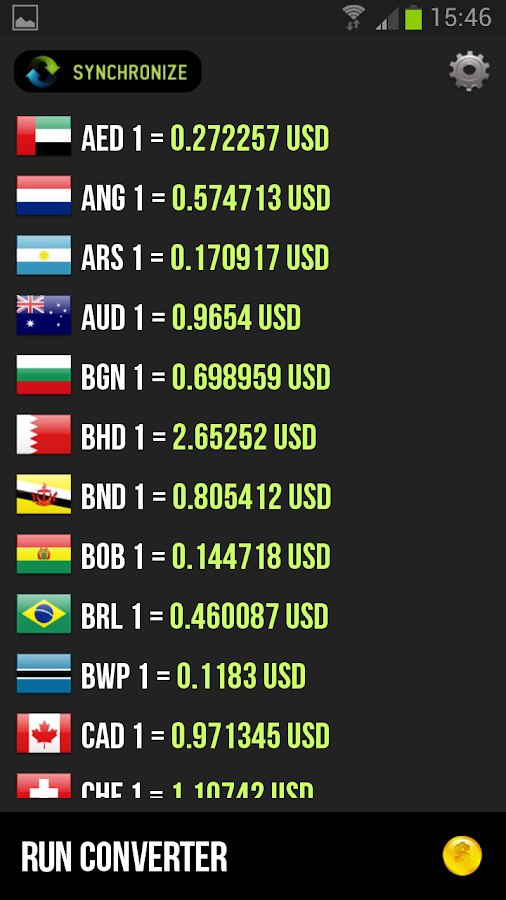 Talking Currency Converter - screenshot