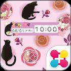 黒猫と薔薇 for[+]HOMEきせかえテーマ icon