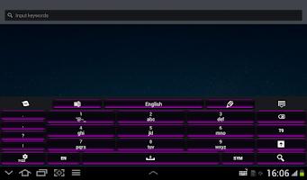 Screenshot of Black and Purple Keyboard