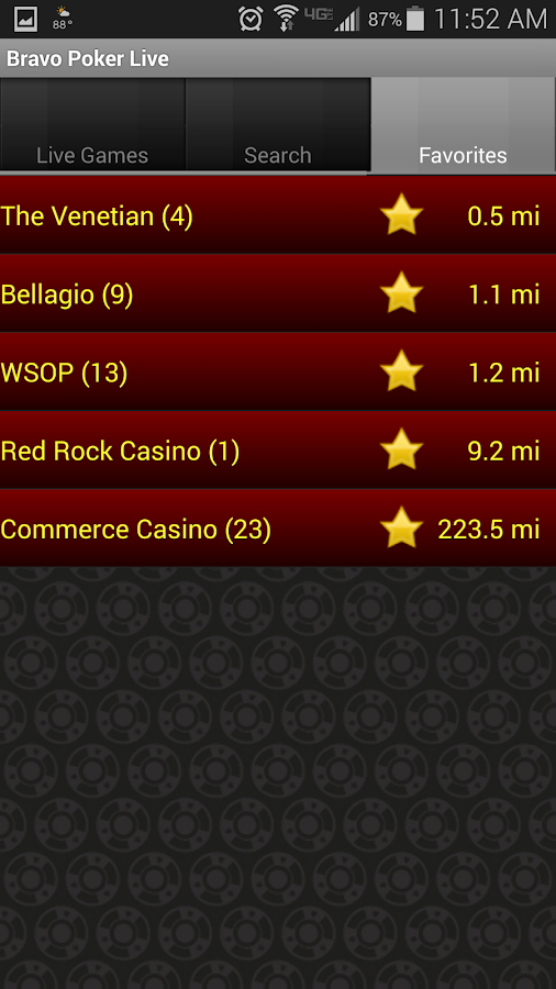 Live Poker Room App Living Room