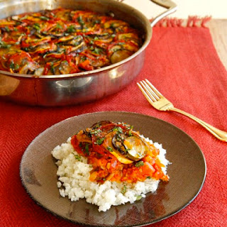 Spicy Smoky Ratatouille Casserole.