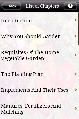 Home Vegetable Gardening - screenshot