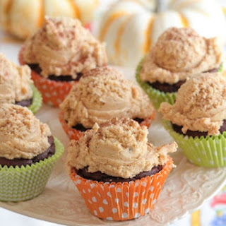 Two Ingredient Chocolate Pumpkin Cupcakes.