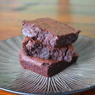 Decadent Flourless Brownies.
