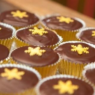 Grown Up Dark Chocolate Orange Festive Cupcakes