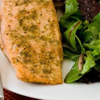 Roasted Salmon with Rosemary-Garlic Rub.
