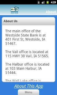 Westside State Bank - screenshot thumbnail