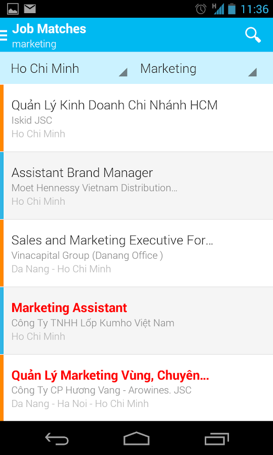 VietnamWorks - Search Job- screenshot