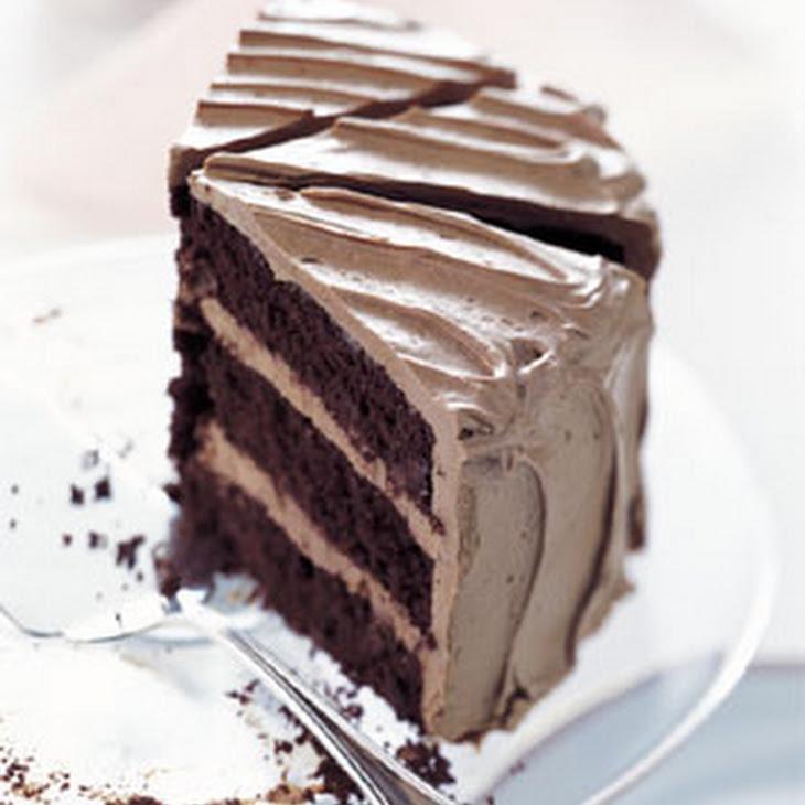 Chocolate Cake with Caramel-Milk Chocolate Frosting Recipe