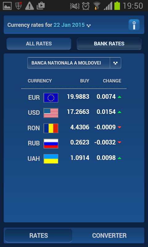 Inforama Exchange Rates- screenshot