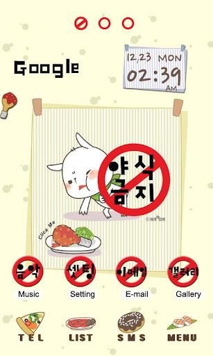 CUKI Themes Prohibit to Eat