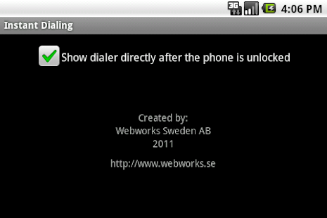 Instant Dialing- screenshot thumbnail