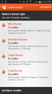 Burner - Disposable Numbers - screenshot thumbnail