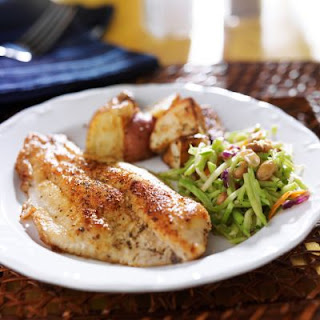 Homestyle Tilapia with Roasted Potatoes and Vegetables