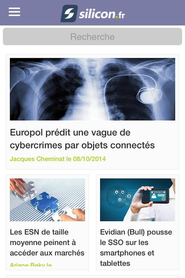 Actualités Tech - Silicon.fr- screenshot