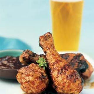 Bourbon-Molasses Chicken Drumsticks.