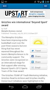 The Memphis Business Journal- screenshot thumbnail