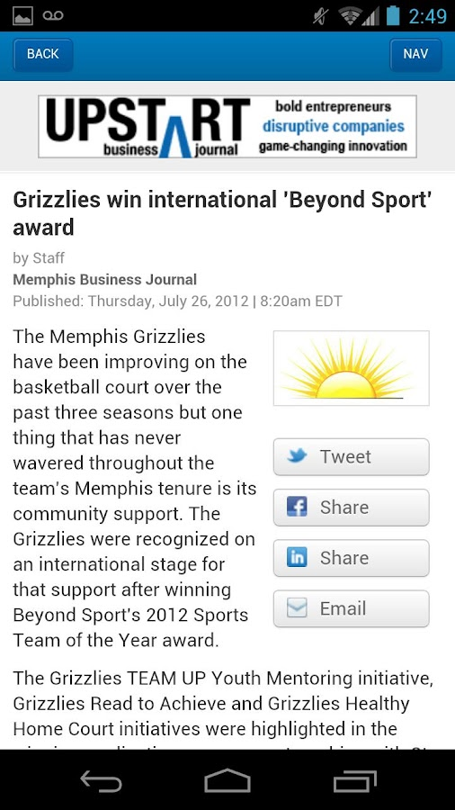 The Memphis Business Journal- screenshot