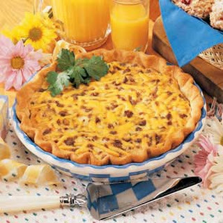 Beef and Cheddar Quiche.