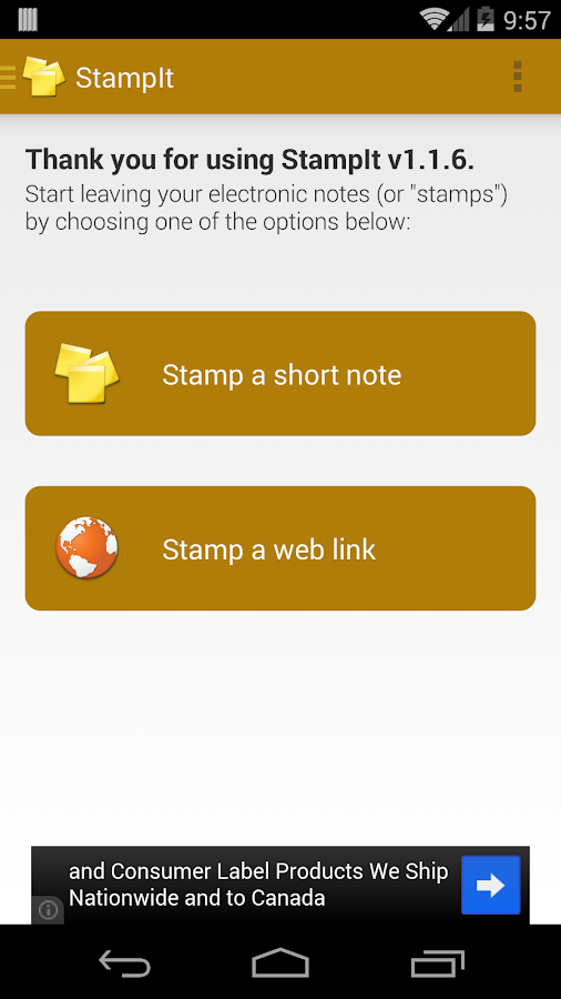 StampIt - screenshot