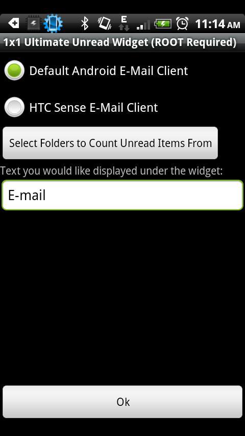 1x1 Ultimate Unread Widget- screenshot