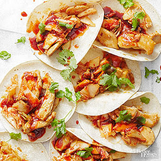 Korean Chicken Tacos.