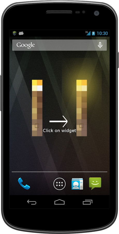 Super Flashlight LED Widget - screenshot