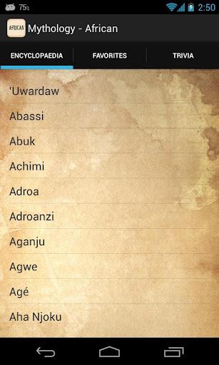 Mythology - African