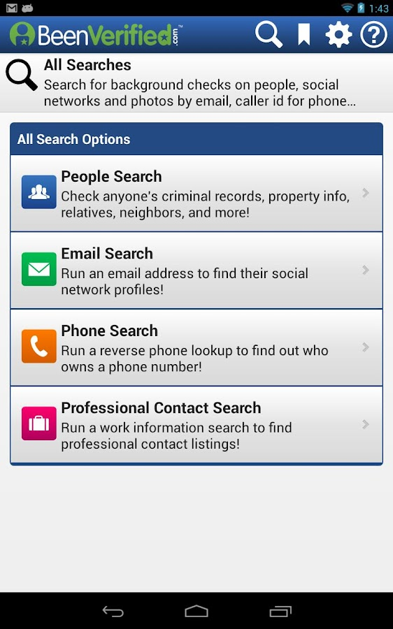 Background Check BeenVerified - screenshot