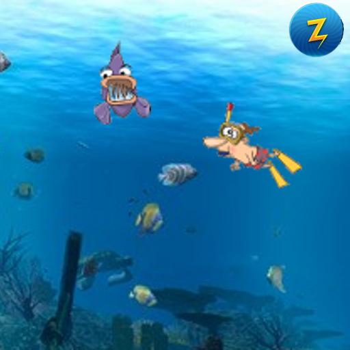 Diver vs Piranha