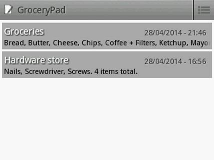 GroceryPad