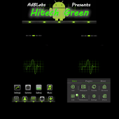 HiTech Green Theme Go Launcher