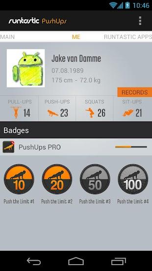 Runtastic Push-Ups Workout PRO- screenshot thumbnail