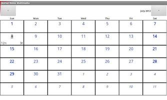 Screenshot of Diary Notes Multimedia