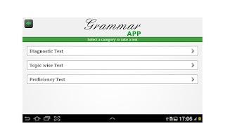 Screenshot of Grammar App by TapToLearn
