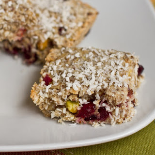 Tropical Lemon Cranberry Coconut Chia Bars