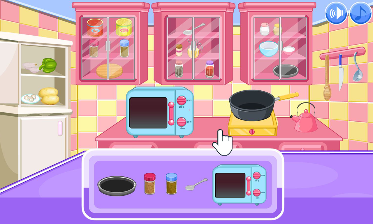 Vegetarian chili cooking game- screenshot
