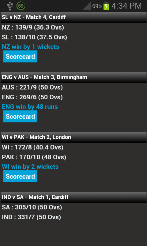 Cricket Live Score & Schedule - screenshot