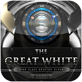 Great White clock widget