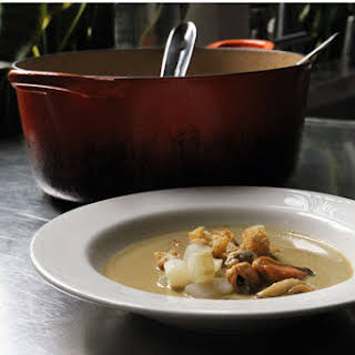 Mussel and Salsify Soup.